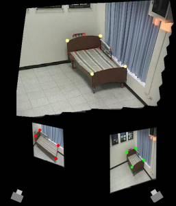 攝影機組監控環境之三維模型建立