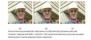 應用於分散式視訊編碼之錯誤隱蔽技術