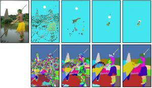 基於重複收縮與聚合之階層式影像分割